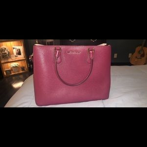 Michael Kors Burgundy large crossbody/handbag